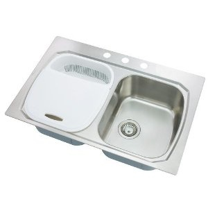 Oliveri Stainless Steel Sinks : Three Hole Double Equal Basin Kitchen Sink - Stainless Steel. Oliveri ...
