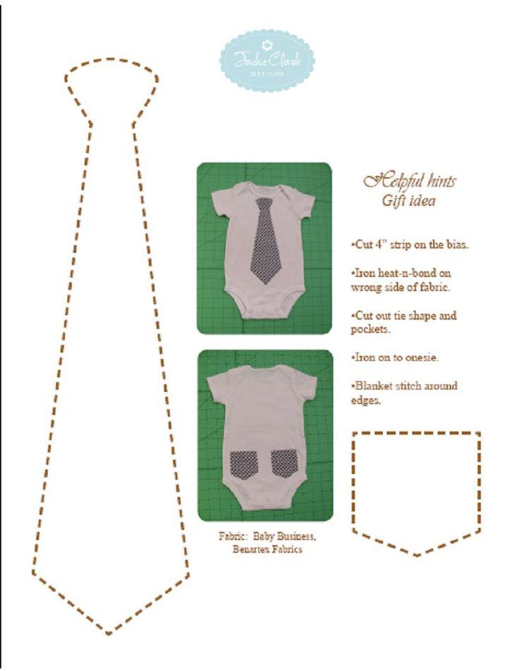 onsie tie template