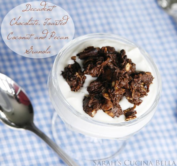 ... Chocolate, Toasted Coconut and Pecan Granola with Liberte Yo