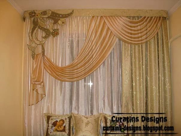 Luxury embossed curtain for bedroom window treatments Luxury window treatments