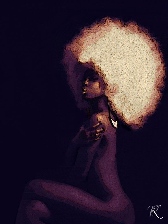 natural hair art african american art pinterest