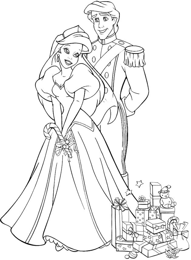 disney princess christmas coloring pages - photo#25