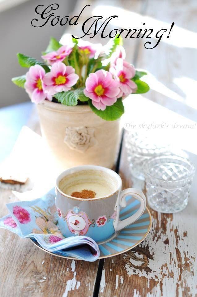 Фото доброе утро кофе цветы