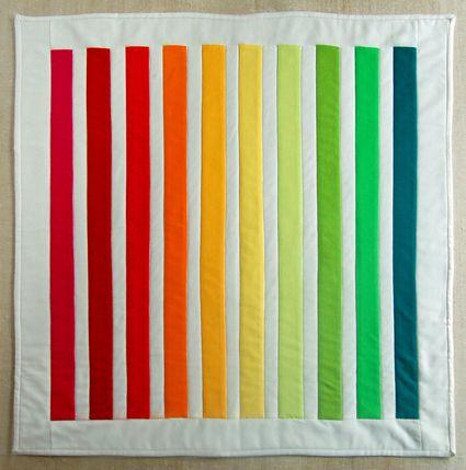 Mini Rainbow Quilt Tutorial