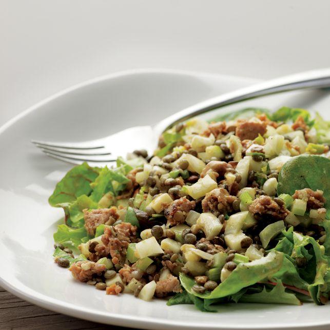 Warm Lentil Salad with Sausage | Salads | Pinterest