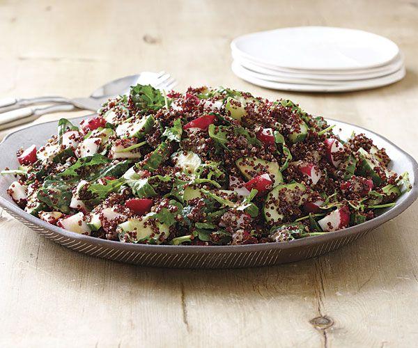 Quinoa, Cucumber, and Radish Salad with Miso Vinaigrette | Recipe