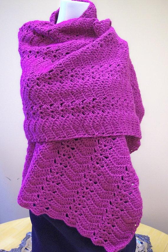 Crochet Prayer Shawl by hendersonmemories on Etsy, $65.00