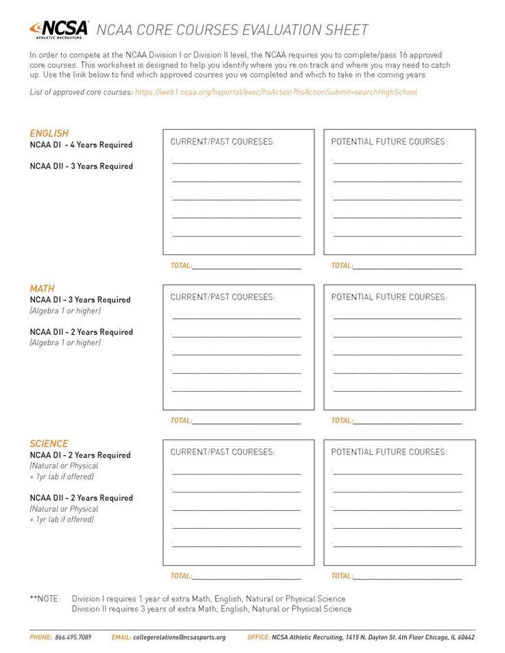ncsa 39 s core courses worksheet. Black Bedroom Furniture Sets. Home Design Ideas