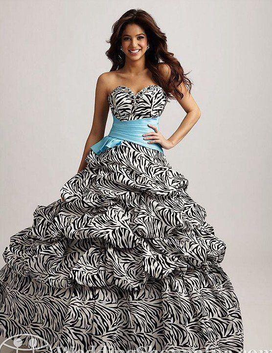 Zebra Grad Dresses 40