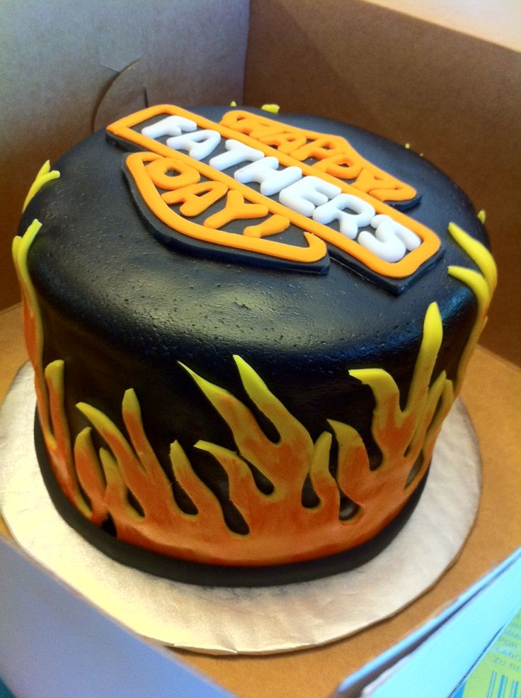 harley davidson fathers day cake cakes cupcakes pinterest