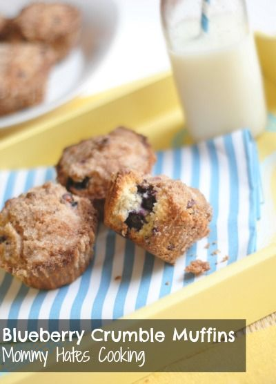 Blueberry Crumble Muffins {Gluten Free Optional}