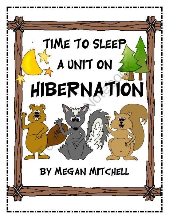 Hibernation Lesson | my work is child's play | Pinterest