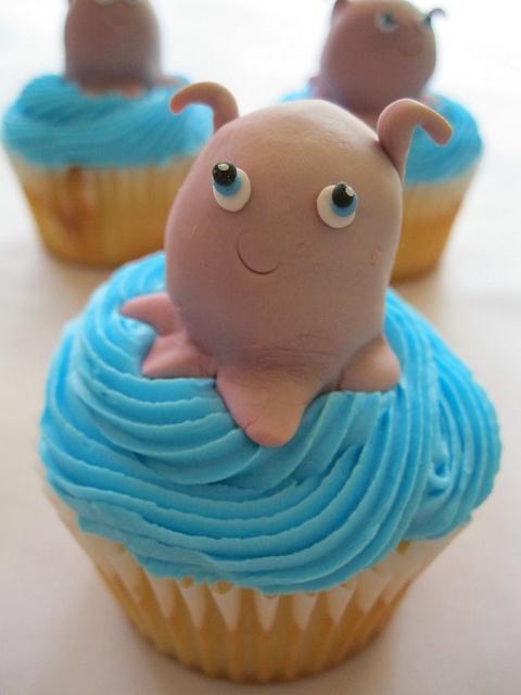 Squid - Finding Nemo cupcake
