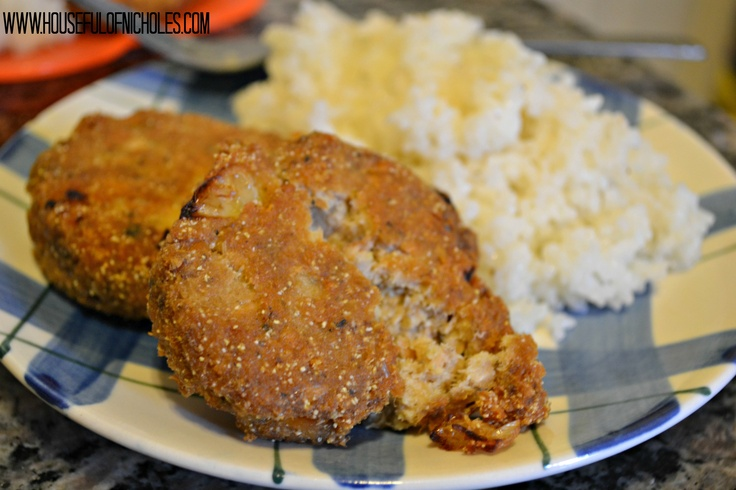 Salmon Croquettes and Rice | Foods I Wanna Try | Pinterest