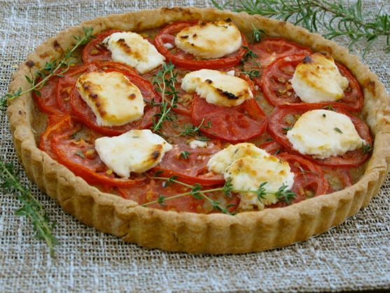 French Tomato Tart with Goat Cheese | MEATLESS MONDAY | Pinterest