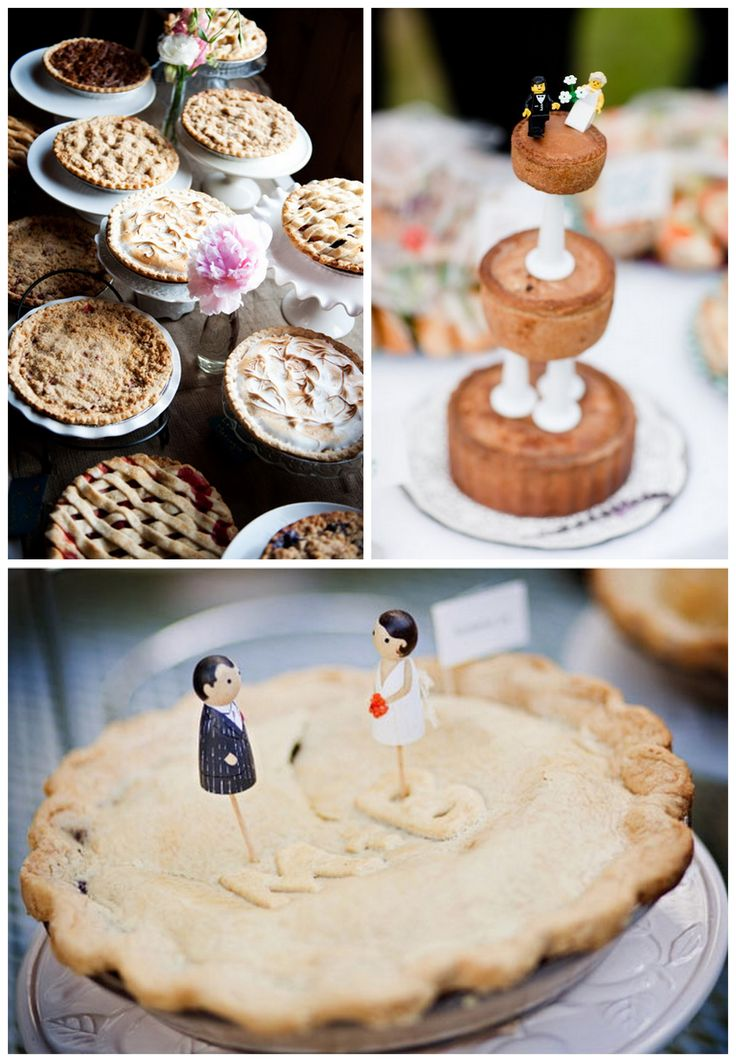 Wedding pie bar. Brilliant idea, not sure if it's for me, but why not consider it. Re-pin if you like. Via Inweddingdress.com #wedding #pie