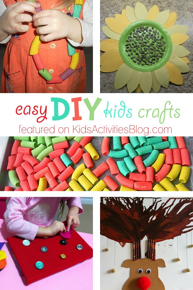 5 Easy DIY Kids Crafts Simple Things To Do At Home