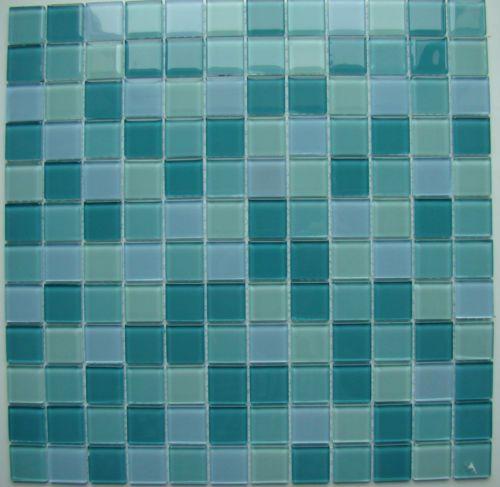 Agave Mosaic Glass Tile Green Pine Blue White Backsplash