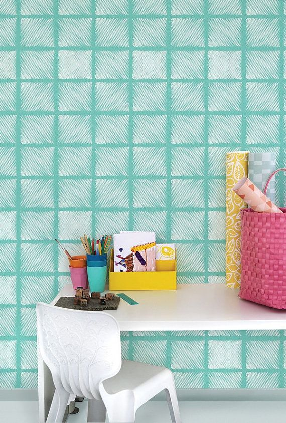 vinyl temporary removable wallpaper, wall decal - Square Wallpaper