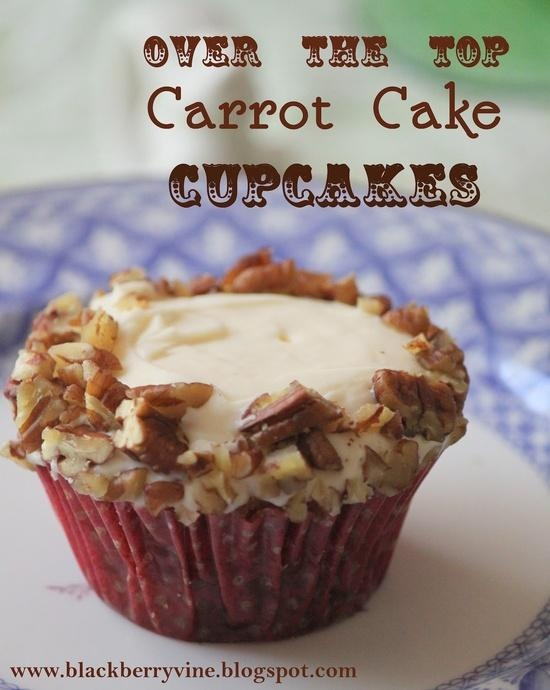 Over the Top Carrot Cake Cupcakes | Cupcakes | Pinterest