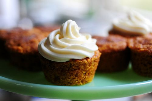 Moist Pumpkin Spice Muffins with Cream Cheese Frosting by Ree Drummond ...