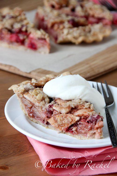 Apple Cranberry Crumb Pie Recipe - bakedbyrachel.com