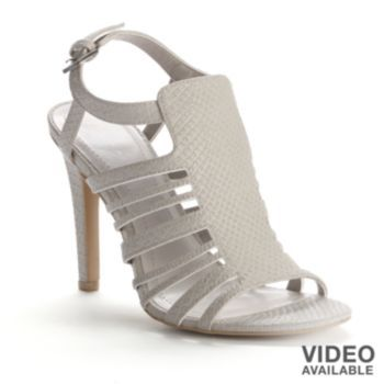 LC Lauren Conrad Slingback Caged Dress Heels - Women