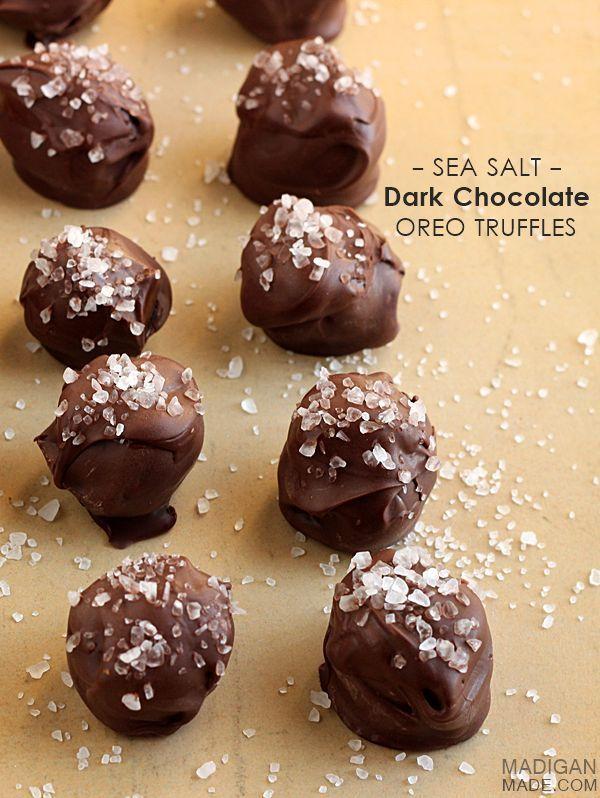 Sea Salt Dark Chocolate Oreo Truffles.   Things sweet and yummy   Pin ...