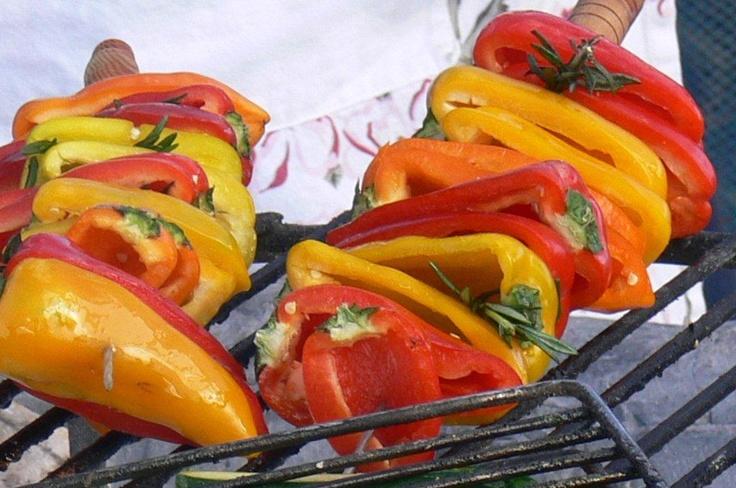 roasted sweet peppers | South African Braai | Pinterest