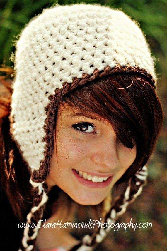 Bulky Crochet Earflap Hat Pattern Free : Adult Earflap Pattern Crochet Pattern PDF 24