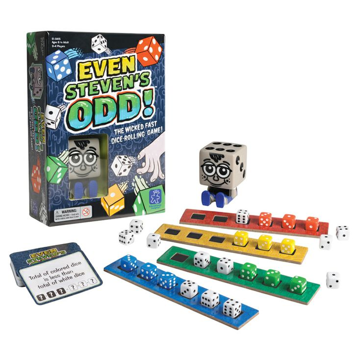 Even Steven's Odd™ is a fast paced engaging game that helps kids understand the concept of even/odds, trails, series, sequences, number recognition, addition, subtraction, multiples - all without them even realizing that their brain is working hard whilst having fun! (Review by Jamal, first-time parent from Chicago).    $19.99