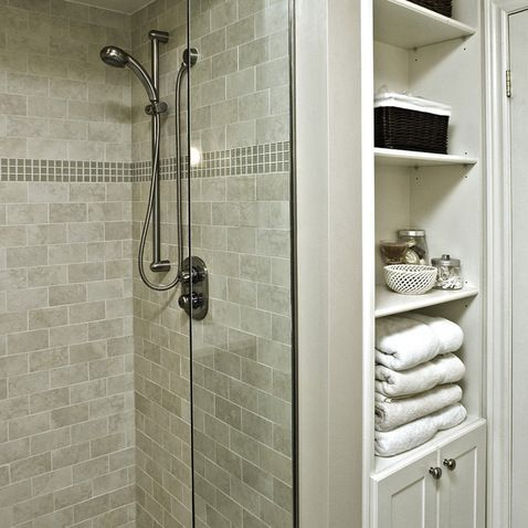 Narrow Bathroom Wall Shelving Tiny Home Design Pinterest