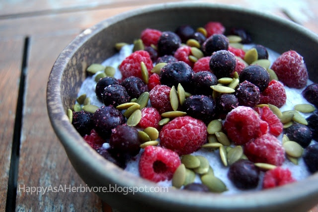 Vanilla Bean and Berry Chia Pudding - Happy as a Herbivore