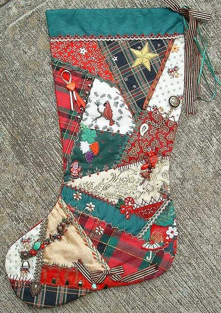 Crazy Quilt Christmas Stocking