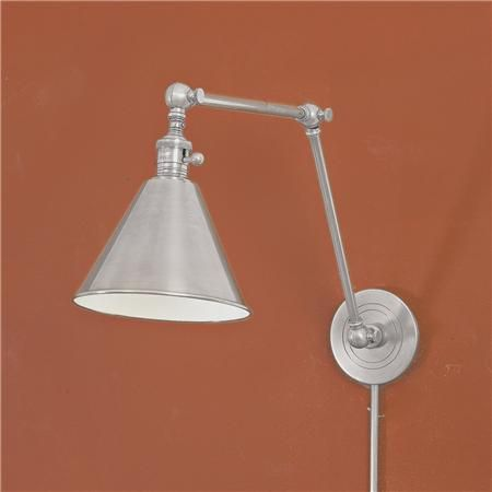 Side Wall Lamp Shades : Cone Pivot Shade Double Joint Wall Lamp Available in 4 Colors: Antiqu?