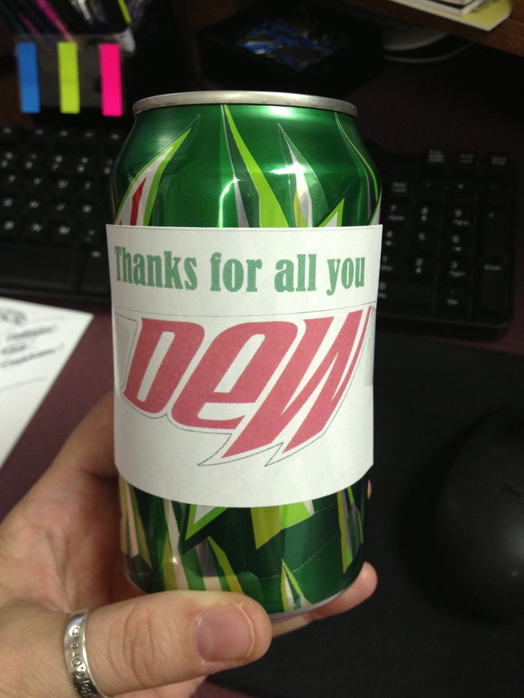 Thanks for all you DEW! Made these for Teacher Appreciation... they ...