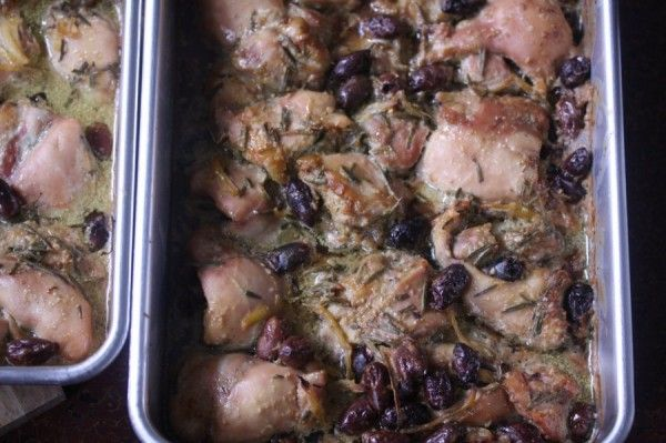 On the Job: Mediterranean Baked Chicken with Kalamata Olives