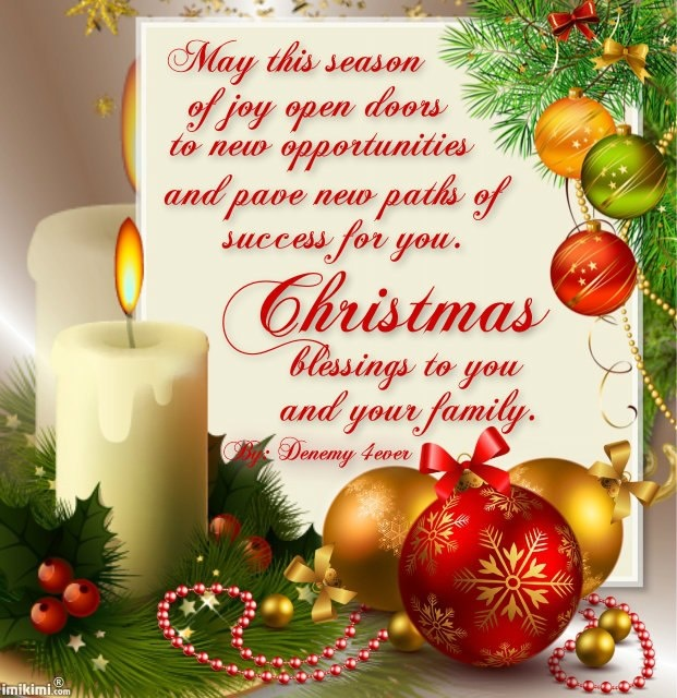 Christmas blessings quotes for cards quotesgram