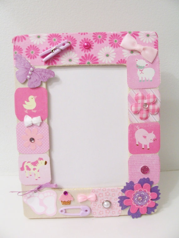 pink baby girl decorative wooden frame baby shower gift baby them
