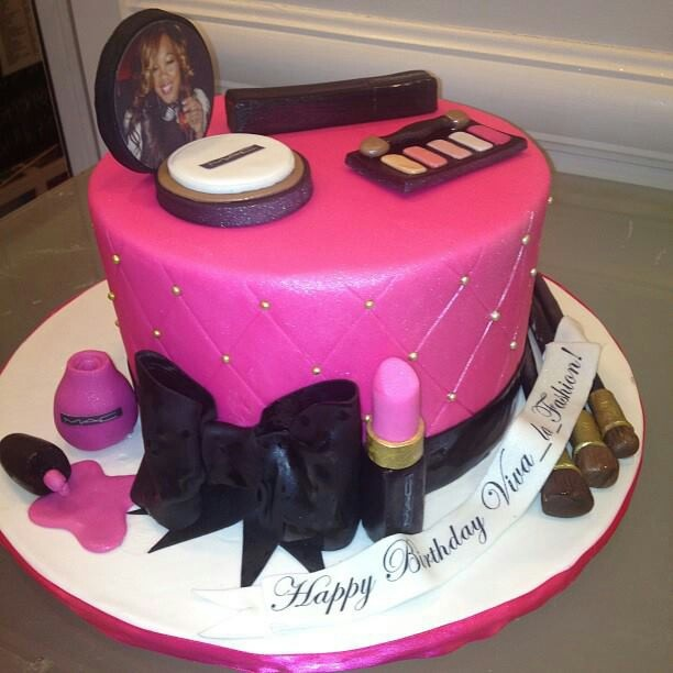 Makeup Cake Images : Make up cake Cute Girly Birthday Cakes Pinterest