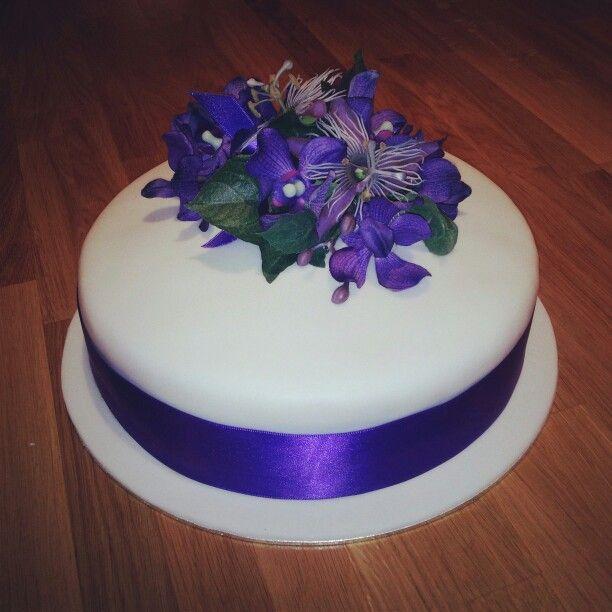 Pin Cadbury Purple Marabou Feather Wedding Birthday Cake Toppercake Cake On Pinterest
