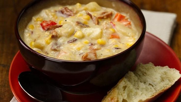 Slow-Cooker Bacon and Corn Chowder | soup | Pinterest