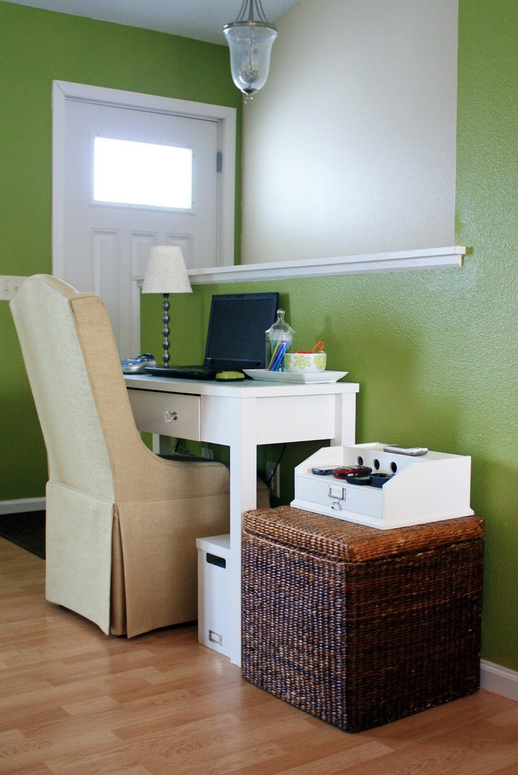 Organized desk work area perfect for studio apt the first home
