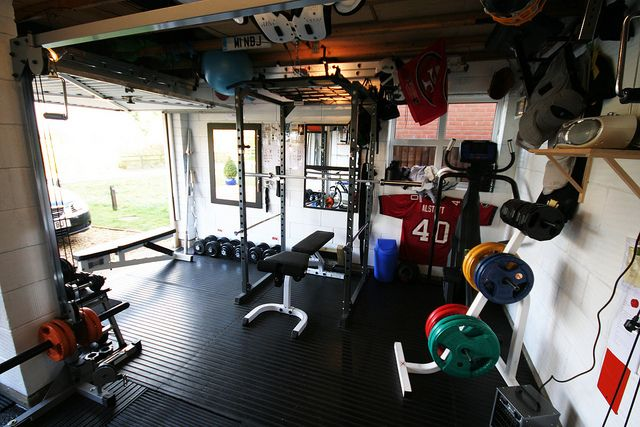 Garage Home Gym Home Gyms Pinterest