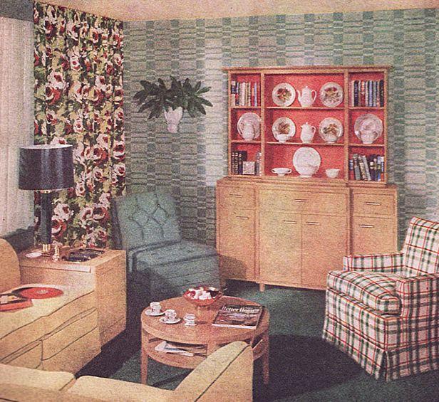 Living room c 1940 vintage christmas pinterest for 1940s decoration