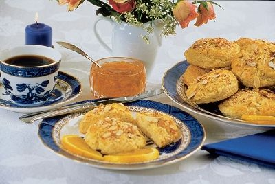 Orange Almond Buttermilk Scones | Breakfast | Pinterest