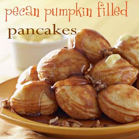 pecan pumpkin filled pancakes | Recipes to try! | Pinterest