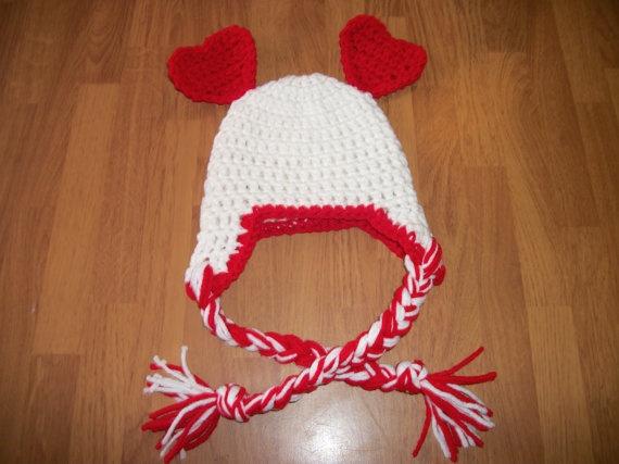 valentine baby hats