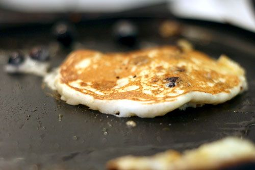 Blueberry Cornmeal Pancakes | FOOD. | Pinterest