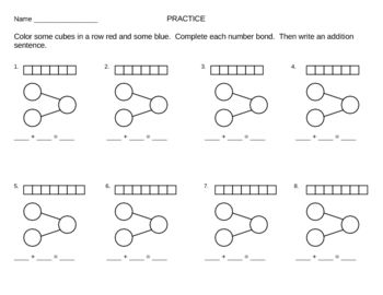 Singapore+Math+Worksheets On the Number Bond and Subtraction Sentence ...